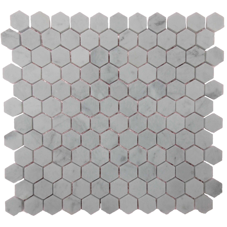 Item #13938 - Carrara Hexagon Marble Image
