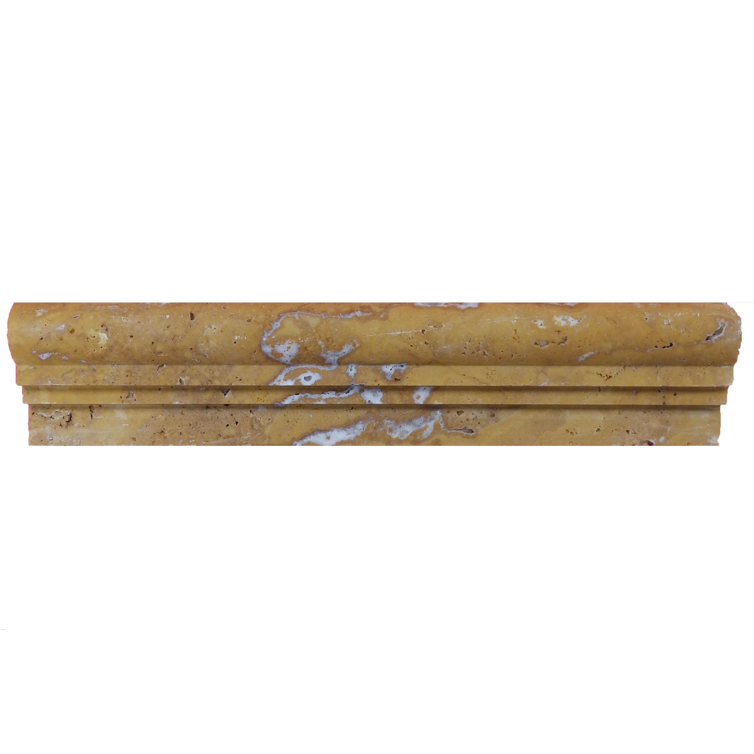 Item #6096 - Gold Ogee 2 Travertine Molding Image