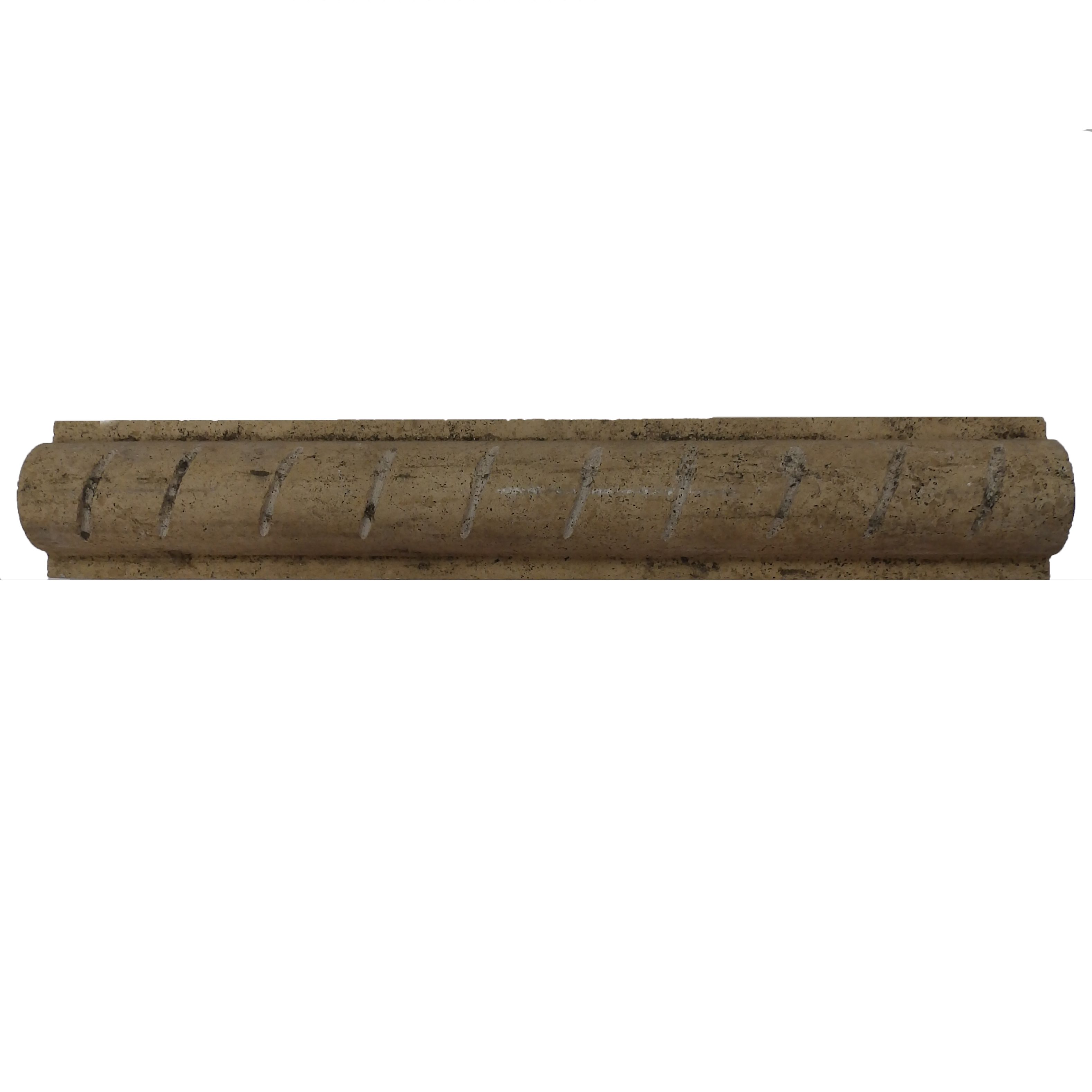 Item #6180 - Philadelphia Rustic Rope Travertine Molding Image