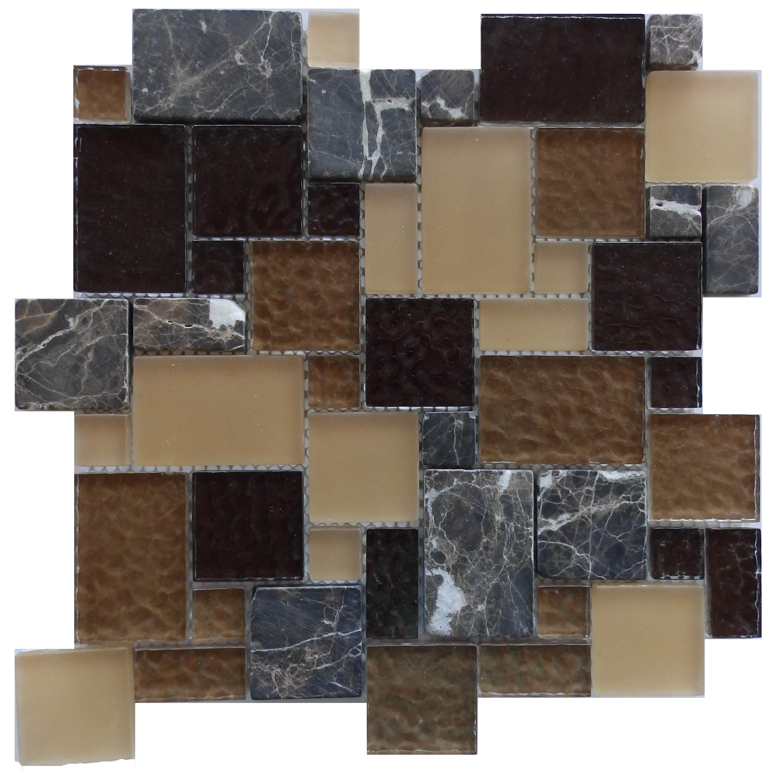 Item #10362 - Mini Versailles Pattern Travertine Image