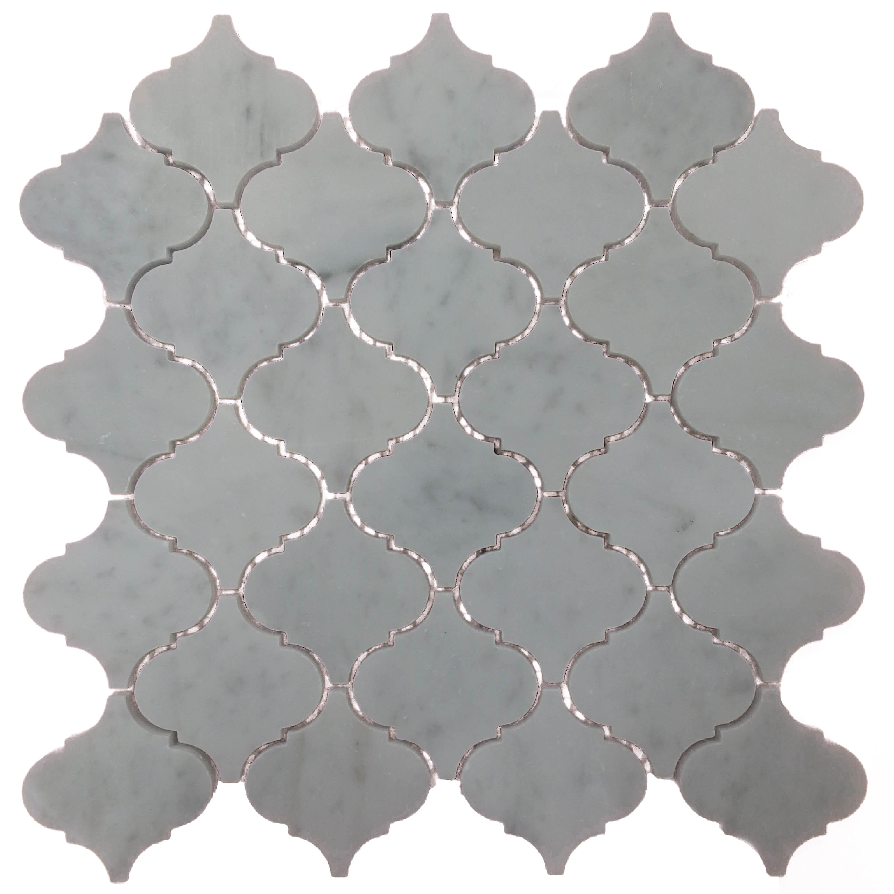 Item #13944 - Carrara Marble Mosaic Image