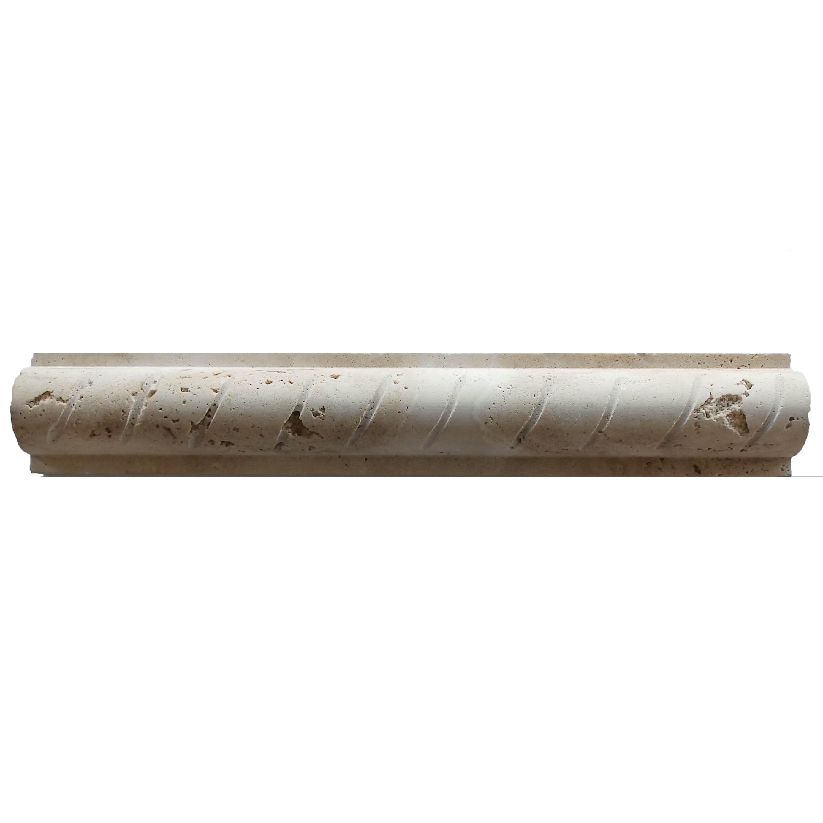 Item #6164 - Rustic Travertine Rope Molding Image