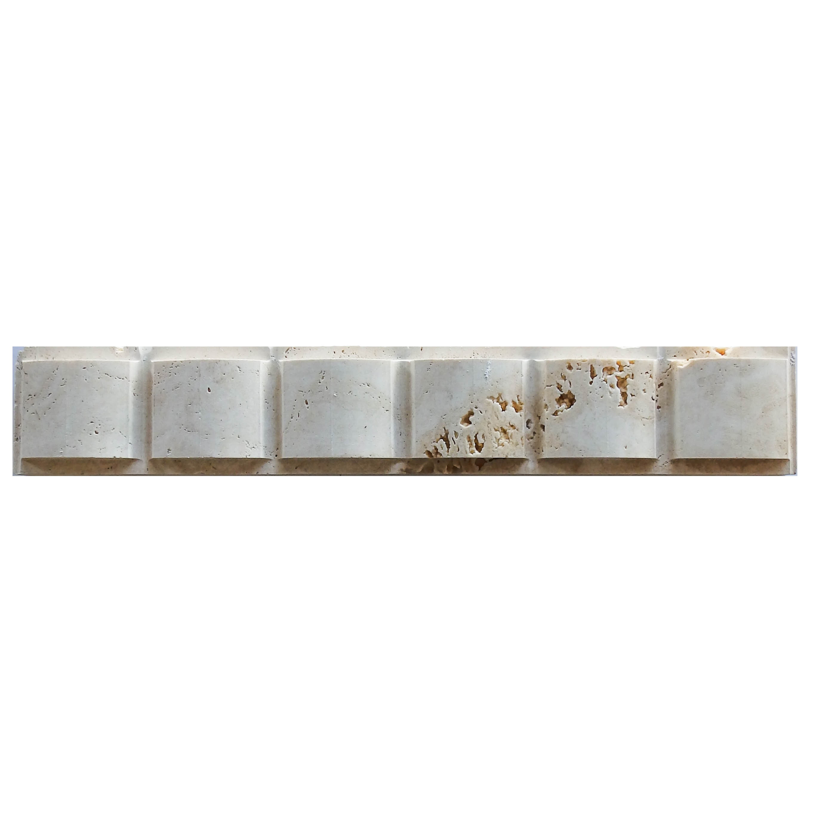 Item #6186 - Bow Pattern Travertine Molding Image