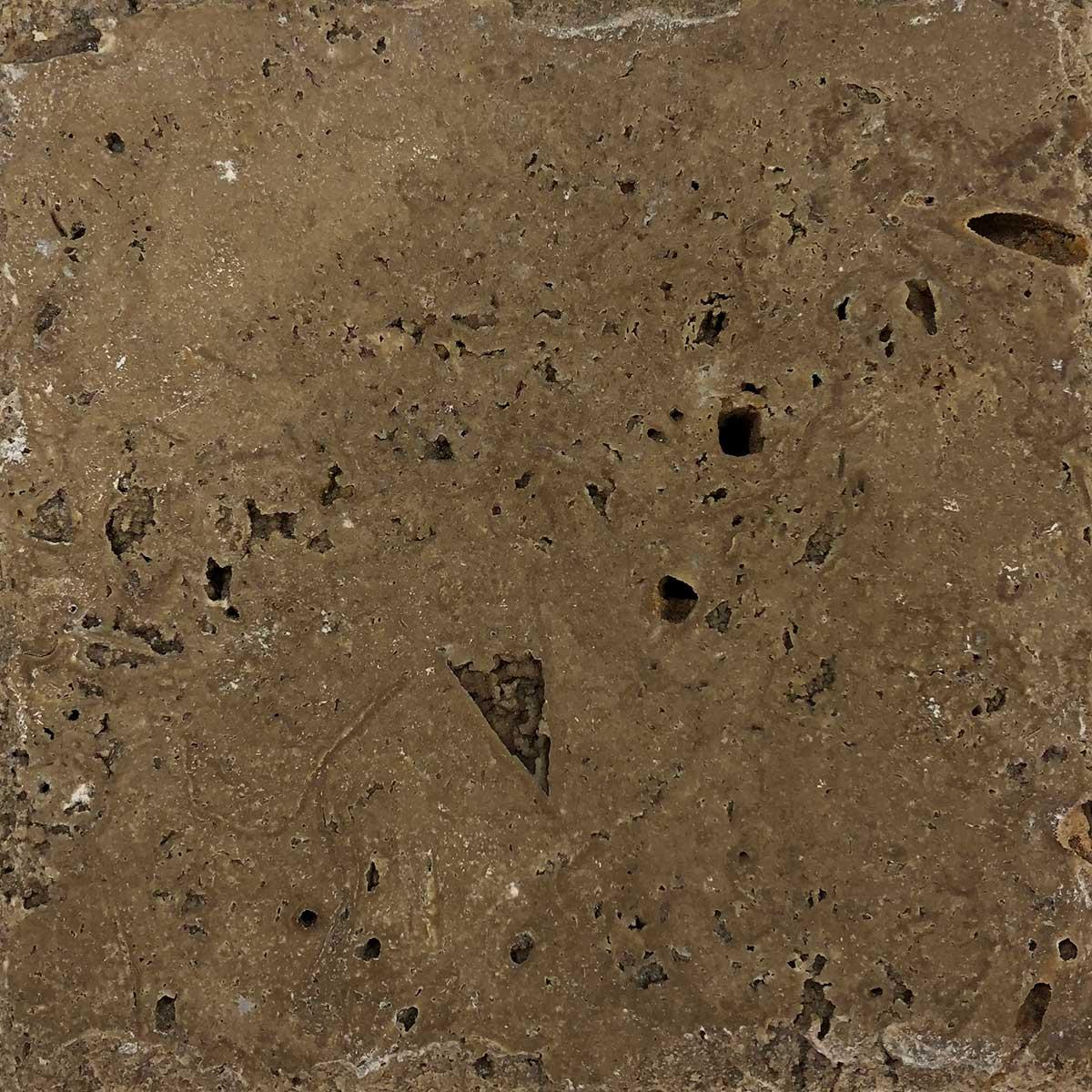 "Item #10945 - 6"" x 6"" Noce Travertine Paver (Chiseled) Image"