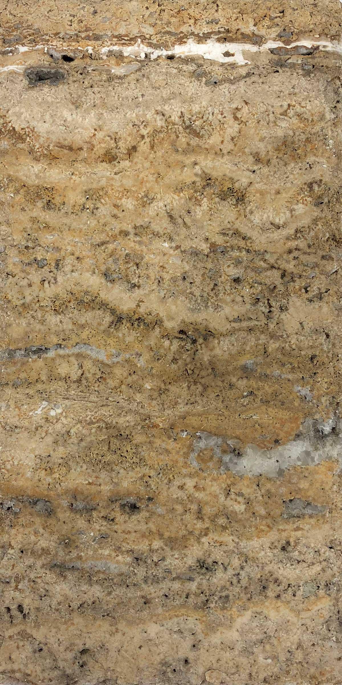 "Item #13330 - 6"" x 12"" Scabos Travertine Paver (Chiseled) Image"
